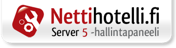 Hallintapaneeli: server5.nettihotelli.fi